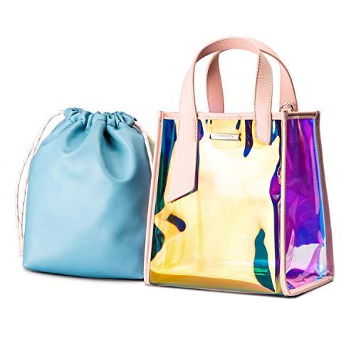 Casual Shiny Holographic Handbag Laser Tote Bag Hologram Rainbow Bag