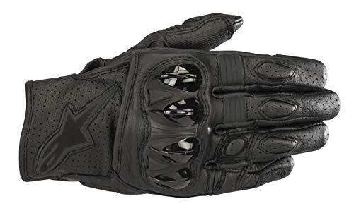 Celer v2 Leather Motorcycle Short-Cuff Glove (Large, Black Black)