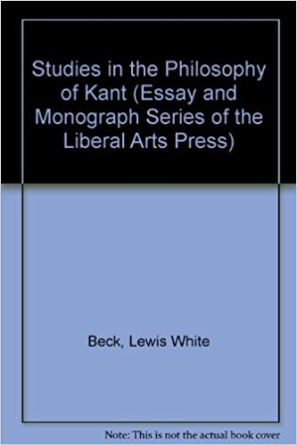 Science And Technology Essay Topics Amazoncom Studies In The Philosophy Of Kant Essay And Monograph Series  Of The Liberal Arts Press  Lewis White Beck Books Essay Proposal Outline also Example Of A Good Thesis Statement For An Essay Amazoncom Studies In The Philosophy Of Kant Essay And Monograph  Example Of A College Essay Paper