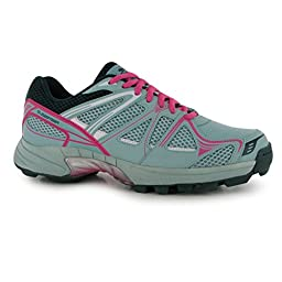Slazenger Womens Premier Hockey Shoes Breathable Sports Trainers Teal/Pink 8.5