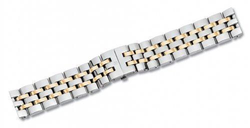 Swiss Army 15mm Alliance Dual Tone Stainless Steel Watch Bracelet