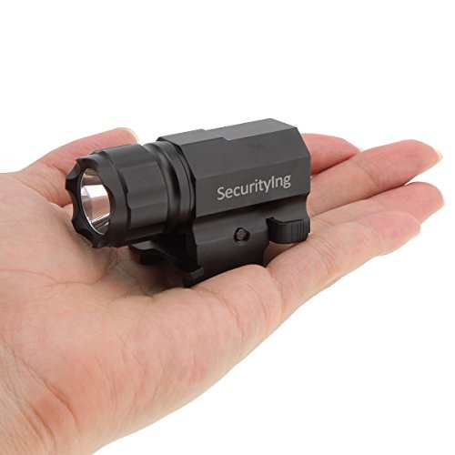 Hunting Mini LED Strobe Tactical Flashlight w// Quick Release Mount for Rifle Gun