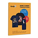25 Sheets Koala Iron-On Dark T Shirt Transfer Paper 8.5x11 inch Compatible with All Inkjet Printer