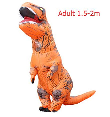 Dinosaur Suit Outfit Party Halloween Costume Adult,T-Rex Orange Adult,One -