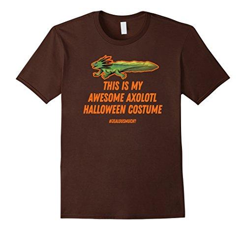 Mens AXOLOTL Halloween Costume funny t-shirt Medium Brown - Axolotl Costume