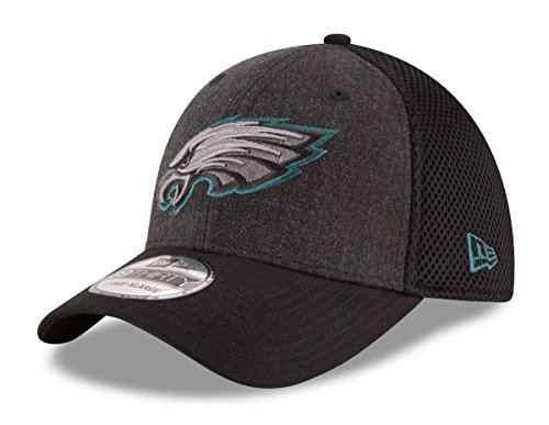 Eagles NFL 39THIRTY Heathered Black Neo Flex Fit Hat ()
