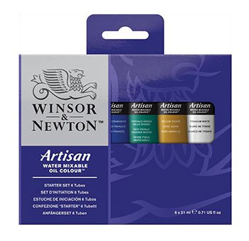 Winsor & Newton Artisan Water Mixable Oil Paints 21ml 6/Pkg-Assorted Colors