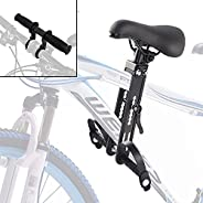 Lilith123 Kids Bike Seat and Handlebar,Front Mounted Child Bicycle Seats Attachment Compatible with All Adult