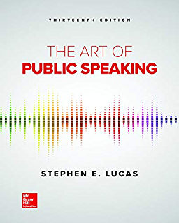 The Art Of Public Speaking Kindle Edition By Stephen Lucas