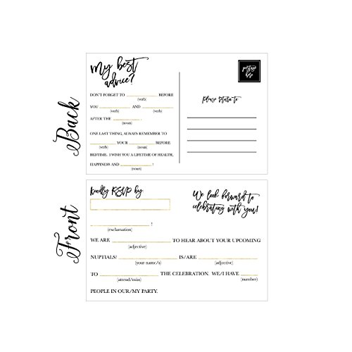 Floral Reply Card (50 RSVP Cards, RSVP Postcards No Envelopes Needed, Response Card, Blank RSVP Funny Reply, RSVP for Wedding, Dinner, Baby Shower, Bridal Shower, Birthday, Engagement, Bachelorette Party Invitations)