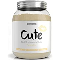 Milk-Shake/Smoothie Vanille pour maigrir tout en restant en forme - Substitut de repas diététique sous forme de boisson en poudre hyperprotéinée basses calories - Guide pour perdre du poids offert
