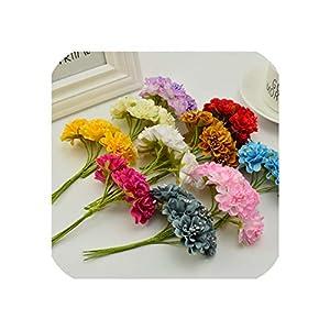 April With You 18 pcs Stamen Silk Daisy Bouquet Artificial Flowers for Wedding Decoration Scrapbooking DIY Decorative Garland Artificial Flower 116