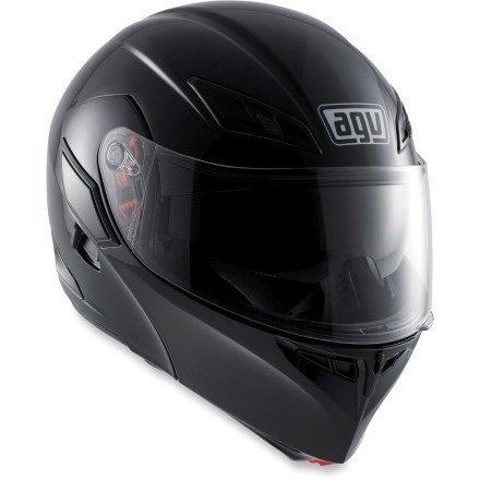 AGV Numo Modular Motorcycle Helmet (Black, Large)