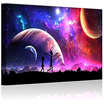 HAO SHUN DA Rick and Morty Oil Painting on Canvas Posters and Prints Decoracion Wall Art Picture Living Room Wall (12