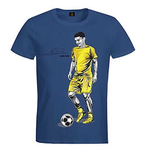 "Camiseta personalizada, Diseño ""CLAUDIU KESERÜ-ROMANIA-UNISEXO-M1"" azul (V.I.P. Pictures World by CRISTALICA) Azul"