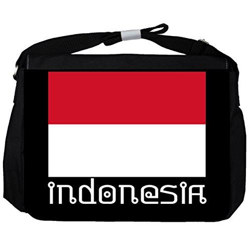 Indonesien -Flagge - Unisex-Umhängetasche