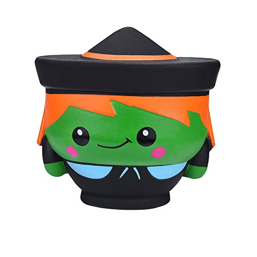 DEESEE(TM))Halloween Witch Doll Scented Squishies Slow Rising Kids Toys Stress Relief Toy