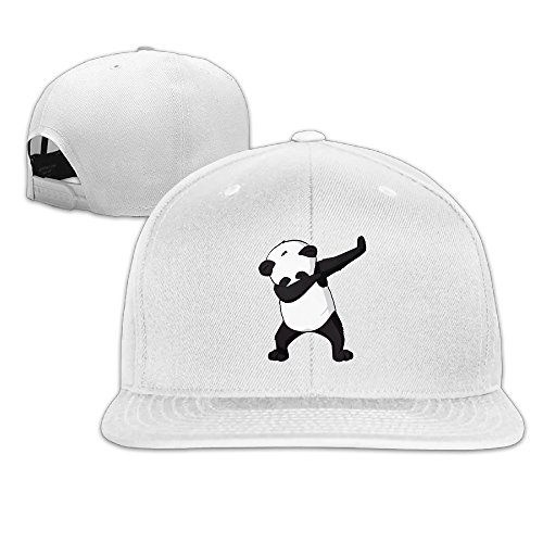 Matthew Schrock Dabbing Funny Panda Unisex Hat Men Womens Punk Rock Snapback Hat Adjustable Hip Hop Hats Flat Baseball Cap White