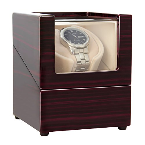Watch Winder ([Upgrades]CHIYODA Single Watch Winder with Quiet Motor-12 Rotation Modes)