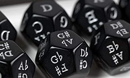Music Dice Set of 5 Six Sided Music Symbols Various Games Gift Musical Fun