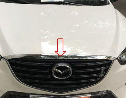 Mazda CX 5 A Partir de 2015 Barra de cromo para capó Tuning accesorios (apta