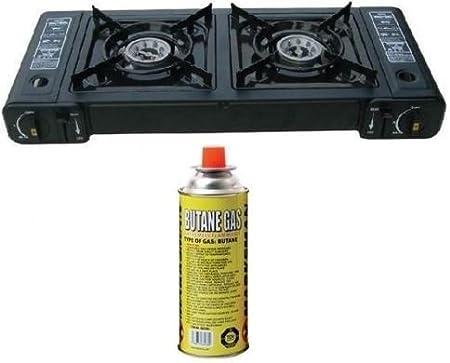 Nueva cocina de gas portátil doble estufa butano Camping ...