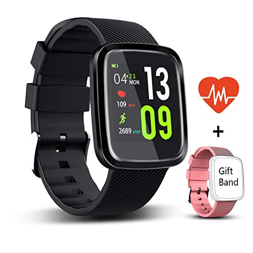 Fitness Trackers, Activity Tracker Watch with 1 Replaceable Bands With  Heart Rate Monitor 1 3 Color Screen Smartwatch with Message Reminder Sleep