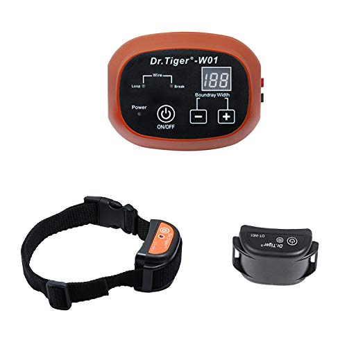 Dr.Tiger 1 Receiver Electric Dog Fence with Rechargeable Shock Collar, Wire In-Ground Invisible Dog or Cat Containment Fence System, Coffee by Dr.Tiger (Image #3)