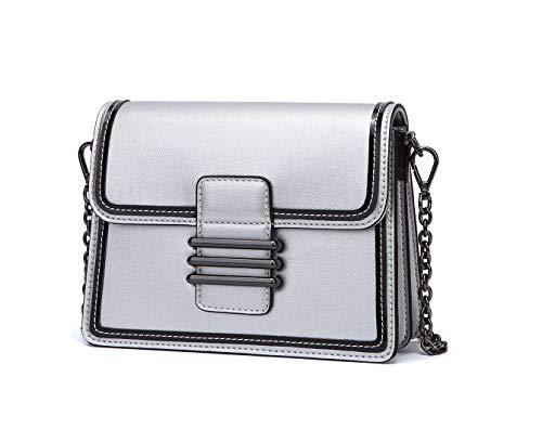 para Bolsos mano bolsos mujer asa Plateado con Carteras de bandolera Shoppers y de hombro Bolsos DEERWORD gwAfq8f5