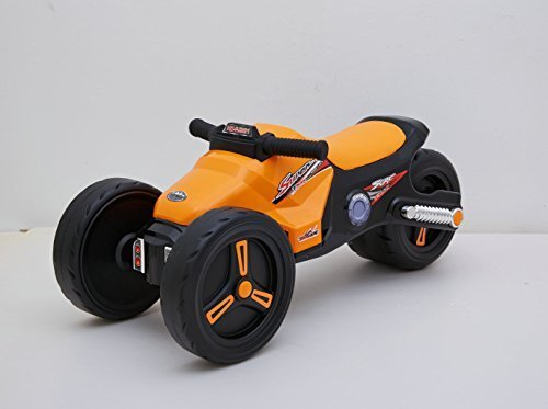 Ride-on Toys Simple Lightweight Stylish Push Motor Bike, Orange, 27.9 x 11.7