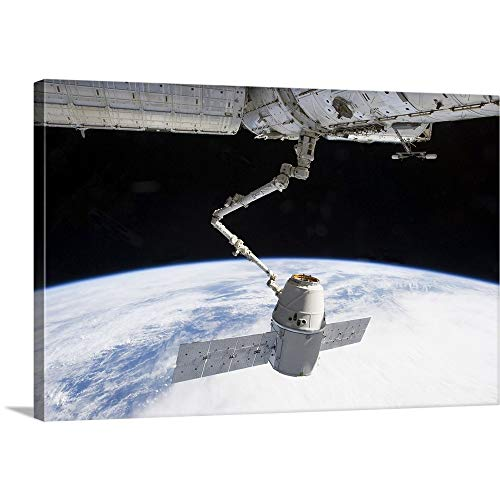 GREATBIGCANVAS Gallery-Wrapped Canvas Entitled The Docking of SpaceX Dragon to The International Space Station Above Earth by SpaceX Photography 18
