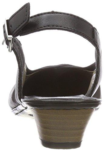 schwarz Rieker schwarz 58063 Noir Gris Femme Escarpins XwwaO7q
