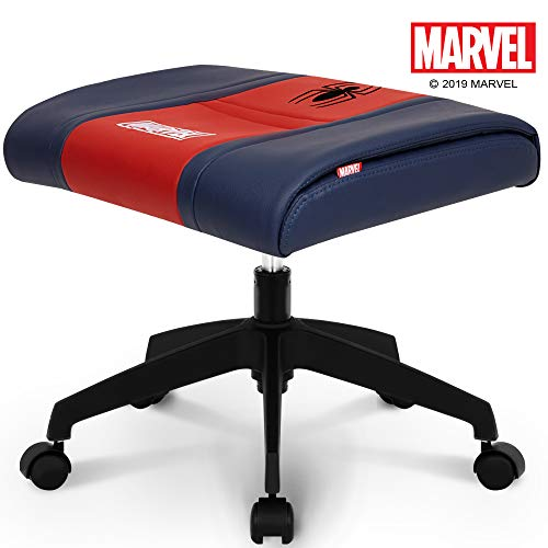 NEO CHAIR Licensed Marvel Multi-Use Stool w/Wheel 1 Year Warranty : Video Game Stool Gaming Chair Stool Footstool Simple Chair Footrest Meeting Chair Swivel Height Adjustable (Spider Man Red)