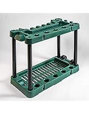 UPP® soporte para herramientas de jardín I organizador de herramientas móvil I portaherramientas para pala, rastrillo, escoba, etc.