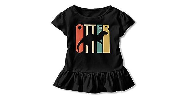 1358e530bad3 Amazon.com: UyO0ij@ Girls' Short Sleeve Style Otter T-Shirts, Casual ...