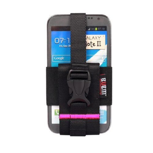 BUBM Clip-On Phone Holster Single Sheath for iPhone/Samsung Galaxy Holder Fits 2.5-5.5 inch (2-Rose Red)