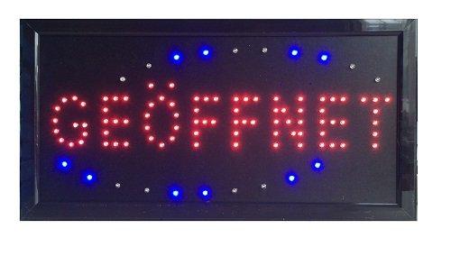 LED Cartel Abierto Leuchtreklame pantalla Publicidad ...