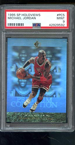 1995-96 Upper Deck SP Holoview Premium Collection Holoviews #PC5 Michael Jordan Insert NBA MINT PSA 9 Graded Basketball Card ()