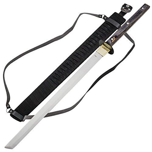 (Red Deer Samurai Rustic Chopper Full Tang Katana Tanto Warrior Sword)