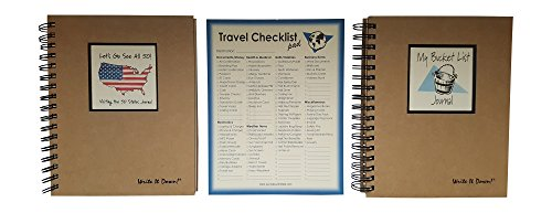 Life Memories Bundle Of 3 Items  Lets Go See All 50   Visiting The 50 States Journal  My Bucket List Journal And Travel Checklist Jumbo Notepad