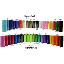 Buy 20 or 40 Rolls of 6 Inch X 75 Feet Tulle Rolls (20 Rolls Vibrant Set)