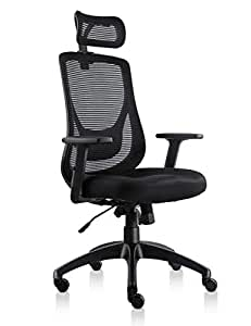 VIVA Office Mesh Chair Ergonomic High Back Chair With Adjustable Headrest And Armrest (Viva1168F1)