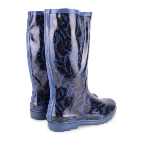 Footwear Sensation - Botas de agua de sintético mujer azul - Blue Lace
