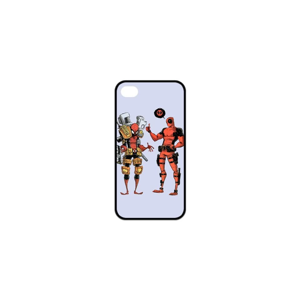 Deadpool Pattern in CASEDY DESIGN TPU iphone4/4s black side case