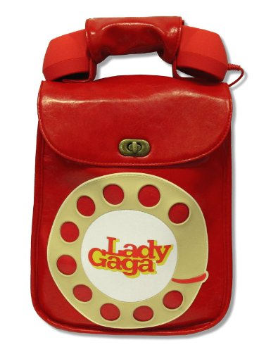 Lady Gaga Red Telephone Soft Faux Leather Hand Bag Purse w/ Speaker