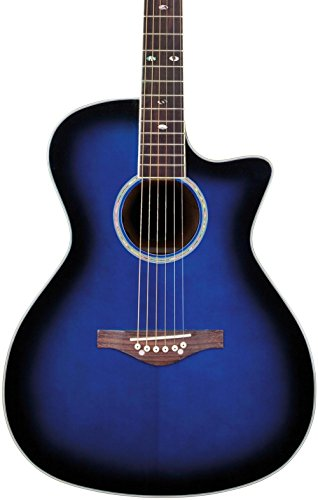 Daisy Rock Wildwood Artist Acoustic-Electric Guitar, Royal B