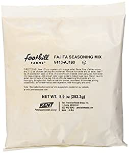 Foothill Farms Fajita Seasoning & Marinade Mix (no Msg) Mix, 8.9-Ounce Packages (Pack of 6)