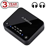 Avantree aptX LOW LATENCY Bluetooth 4.2 Transmitter, 100ft Long Range, DUAL LINK with A & B Button, Digital Optical, AUX / 3.5mm RCA Wireless Audio Adapter for TV, PC - Audikast [36M Warranty]