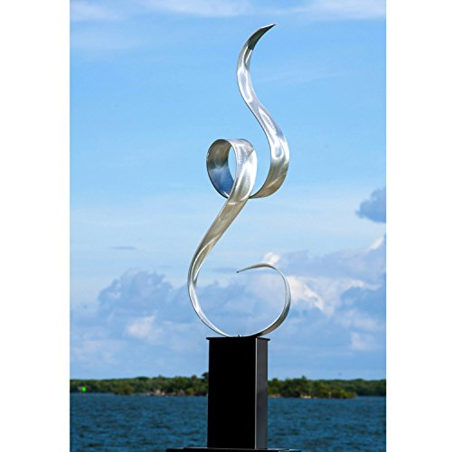 Statements2000 Silver Abstract Metal Art - Large Freestanding Sculpture - Indoor/Outdoor Accent - Garden Sculpture - Unity by Jon Allen