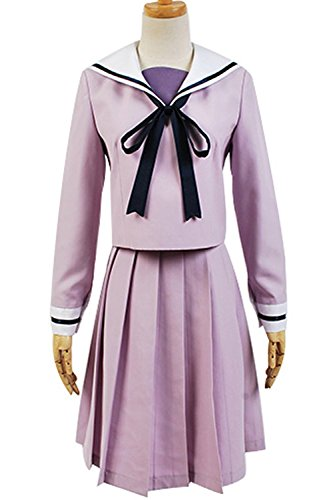 Ya-cos Cosplay Noragami Manga Hiyori Iki Costume Uniform Outfit Dress Halloween Skirt